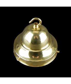 125mm Dome Fixing in Brass