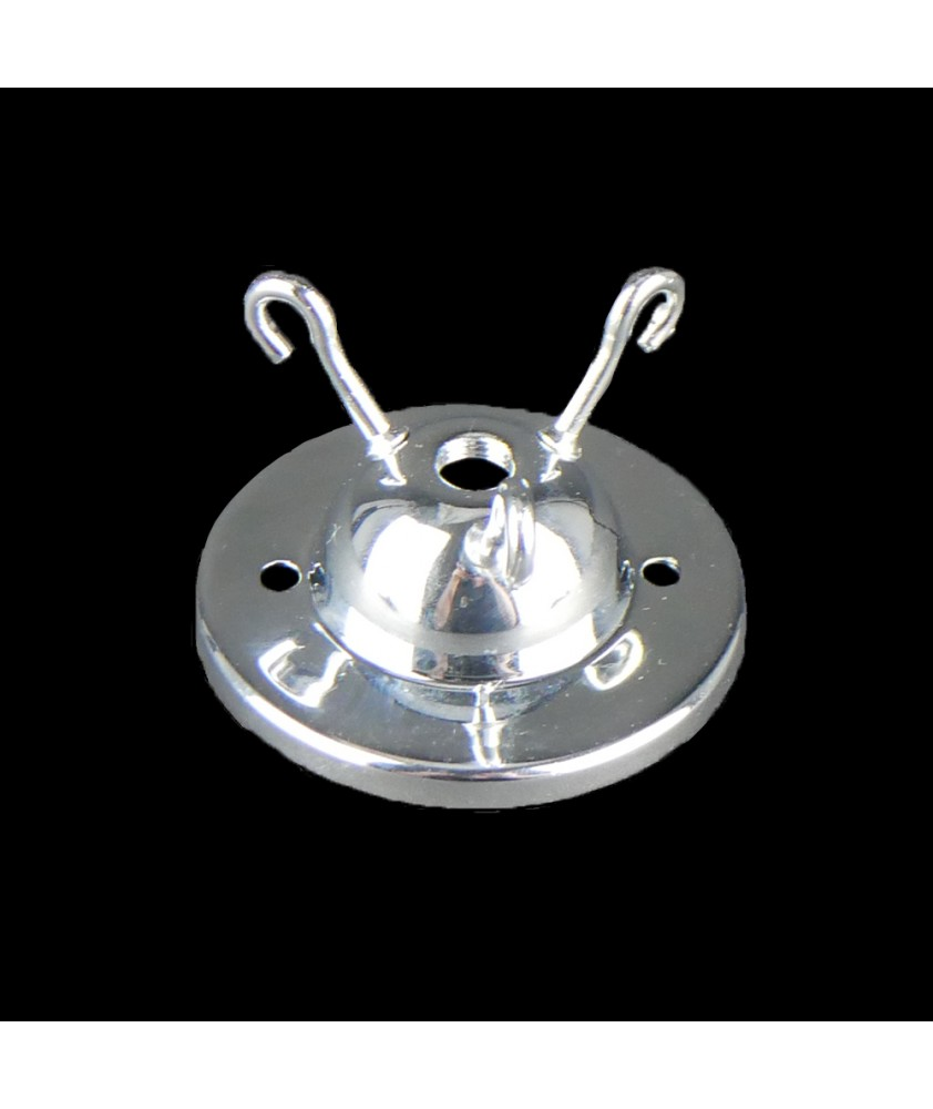3 Hook Ceiling Plate in Various Finishes