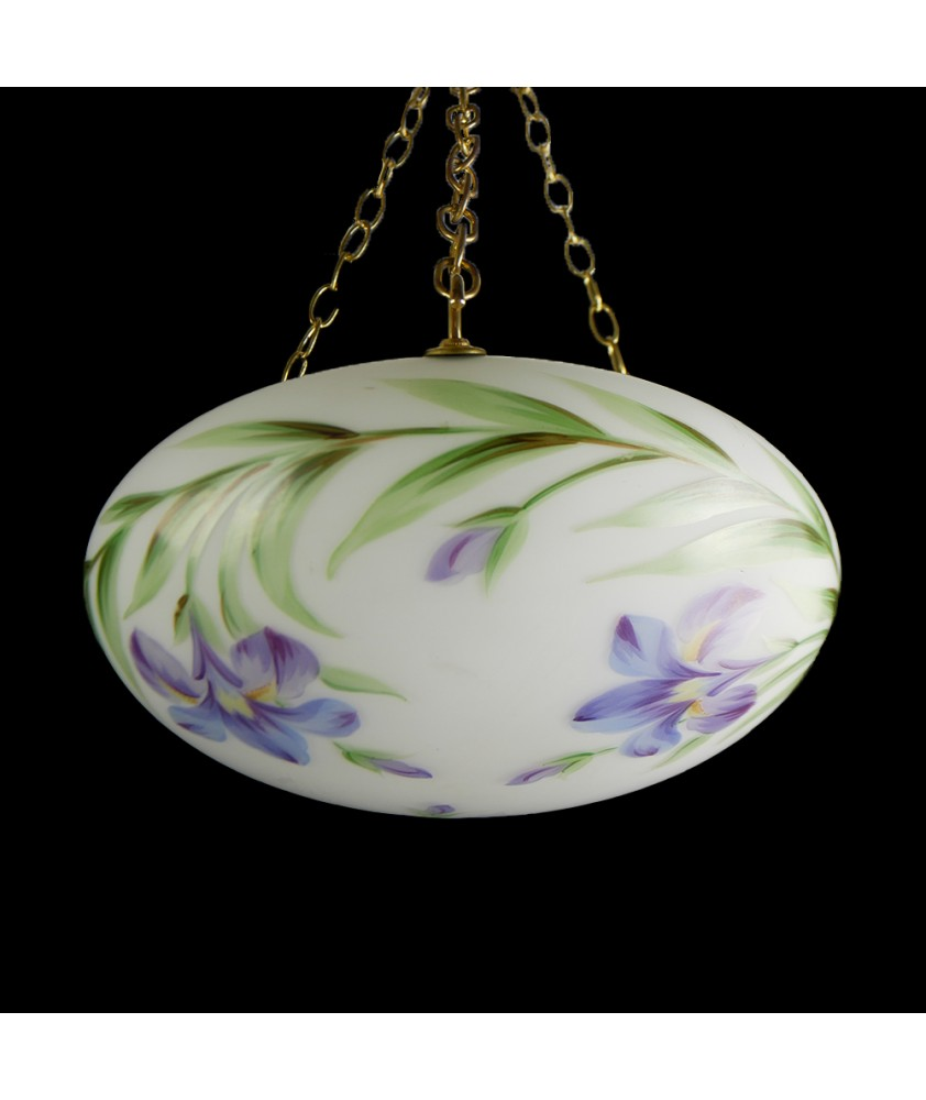 Hanging Bowl with Flower Pattern