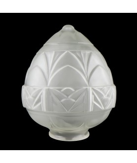 Frosted Patterned Acorn Shade with 95mm Fitter Neck