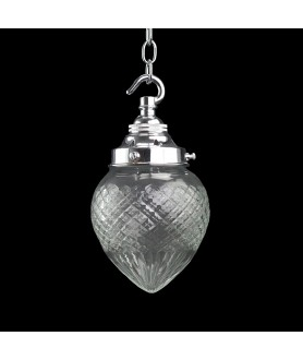 Cut Glass Acorn Light Shade with 57mm Fitter Neck