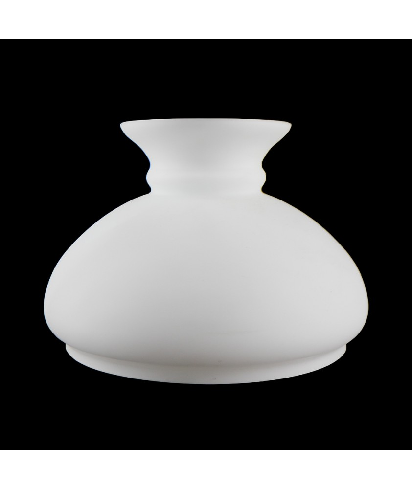 Etched 176mm Base Opal Vesta Oil Lamp Shade