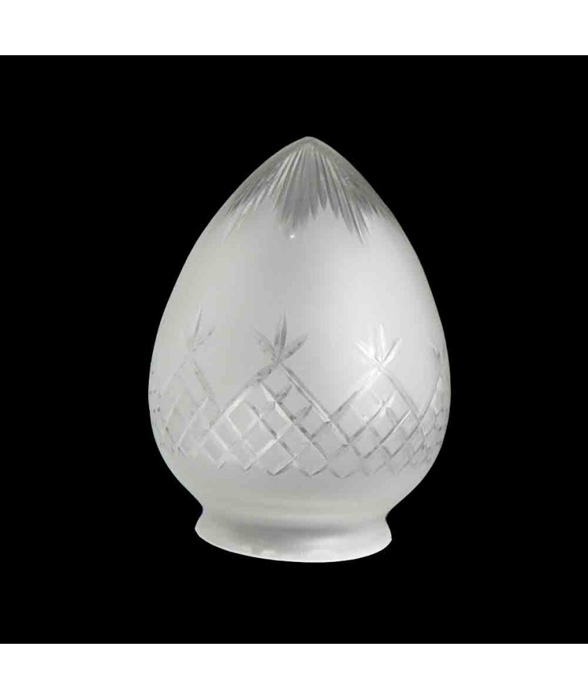 Clear Cut Pineapple Acorn Light Shade with 80mm Fitter Neck