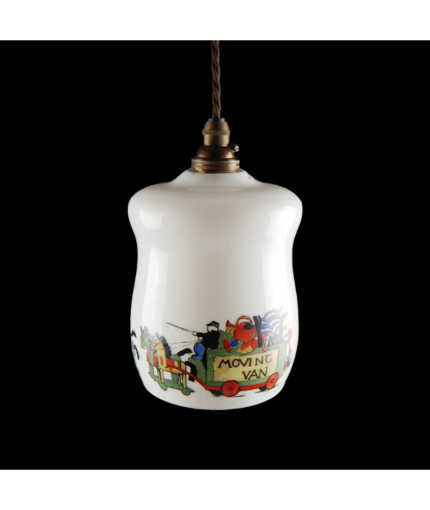 """""""Moving Van """" Ceiling Light Shade with 30mm Fitter Hole (Shade only or Pendant)"""