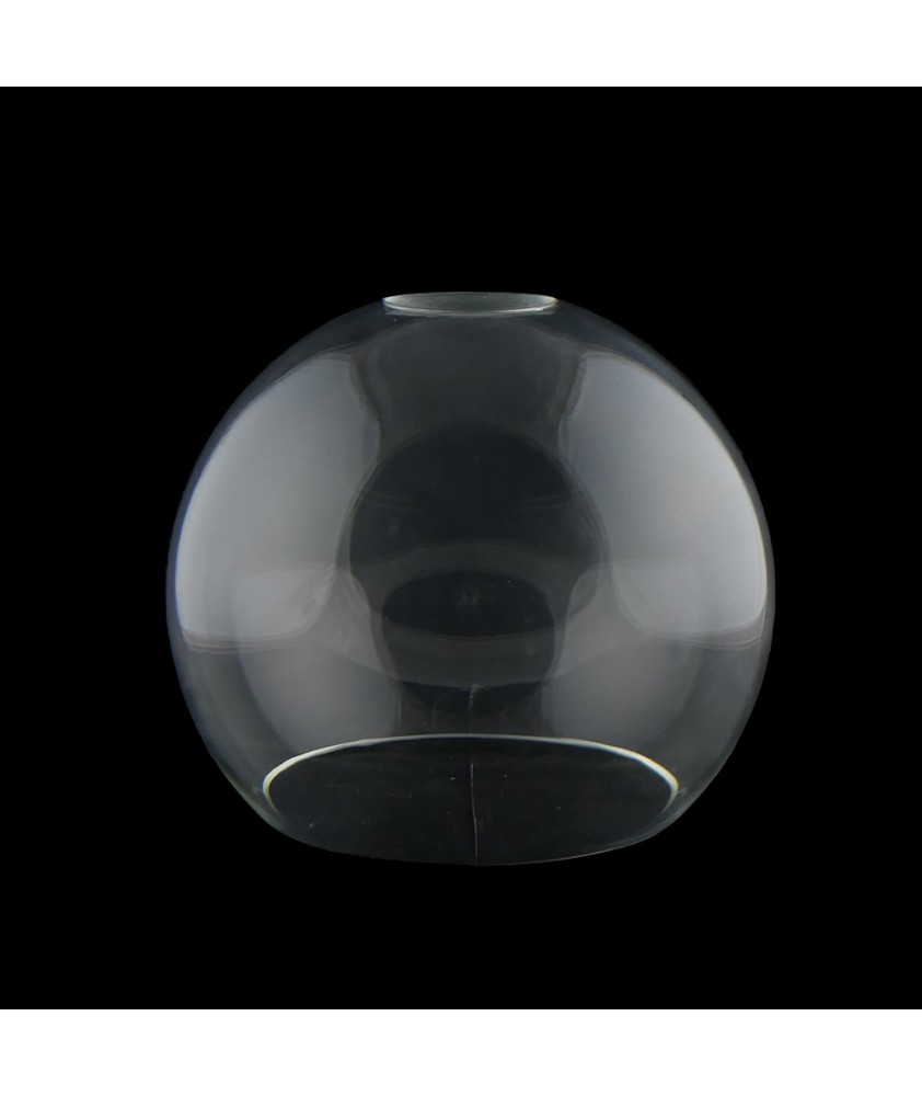 150mm Clear Glass Globe with 40mm Fitter Hole and 100mm Second Hole (Clear or Frosted)