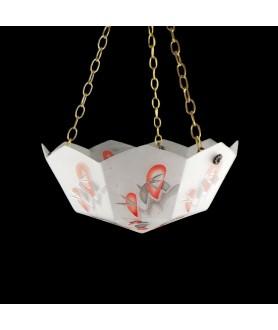 Original Art Deco Hanging Bowl Light Shade