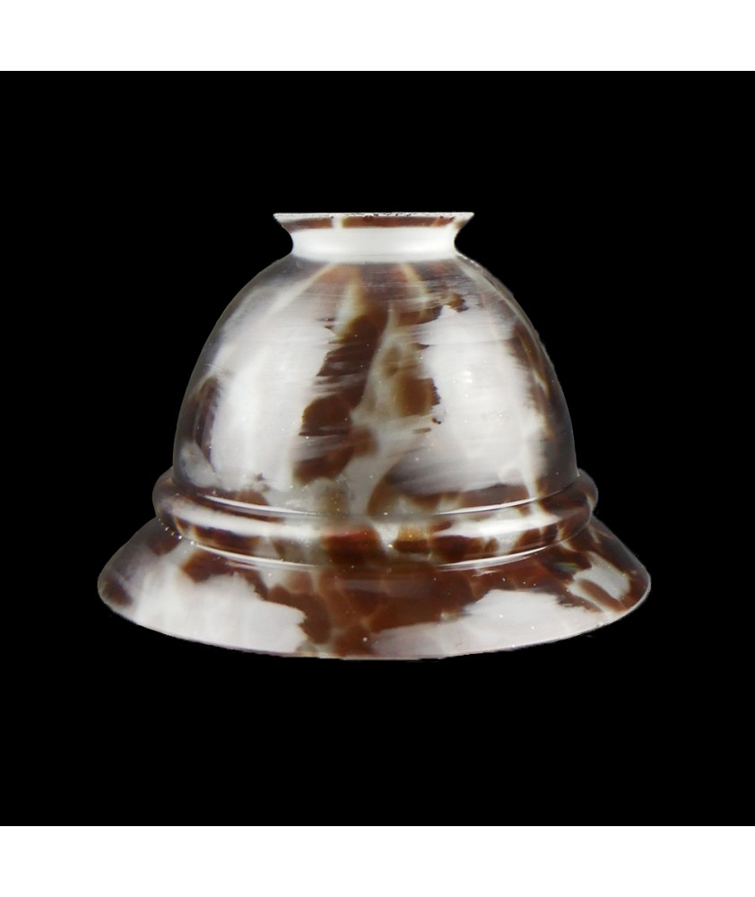Tortoise Shell Tulip Light Shade With 57mm Fitter Neck