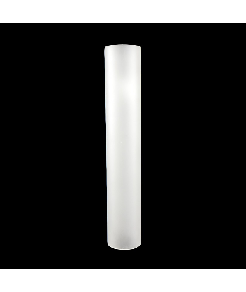 280mm Etched Cylinder Glass Shade with 50mm Base Diameter