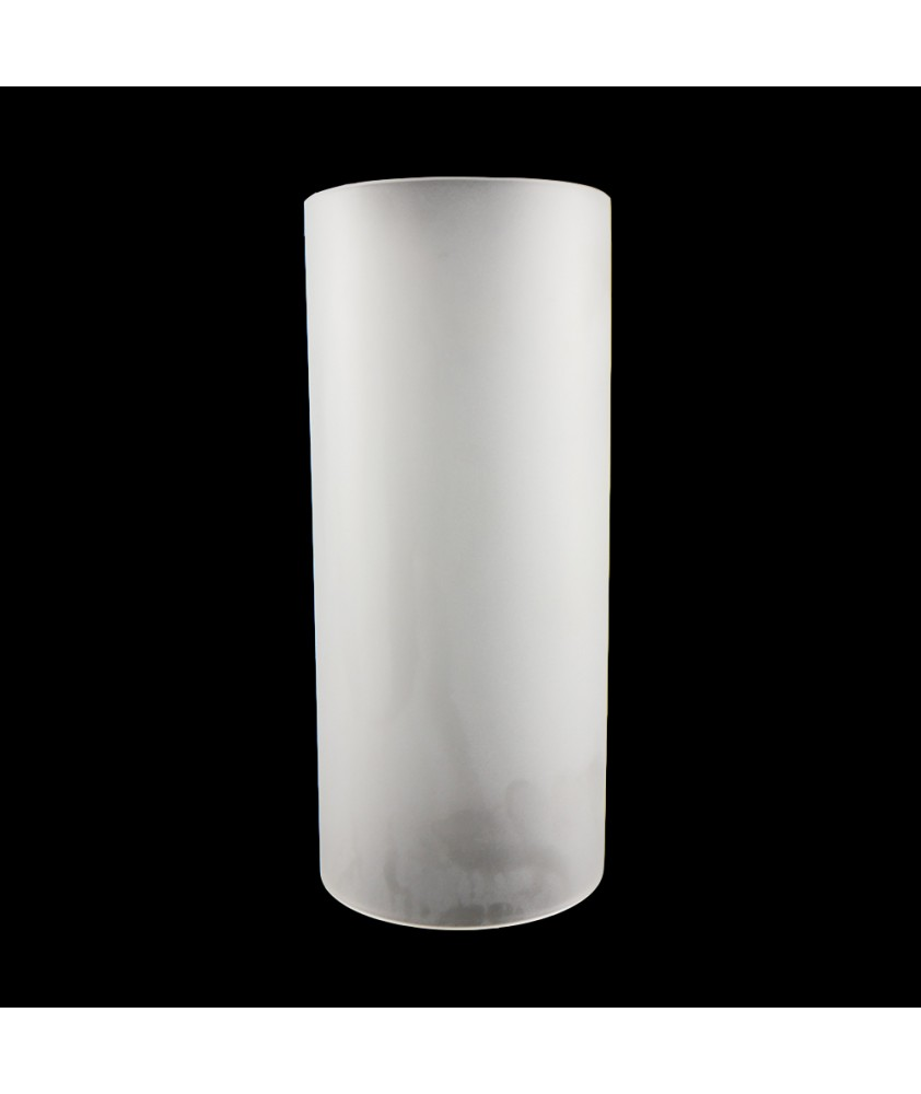 295mm Etched Cylinder Glass Shade with 130mm Base Diameter