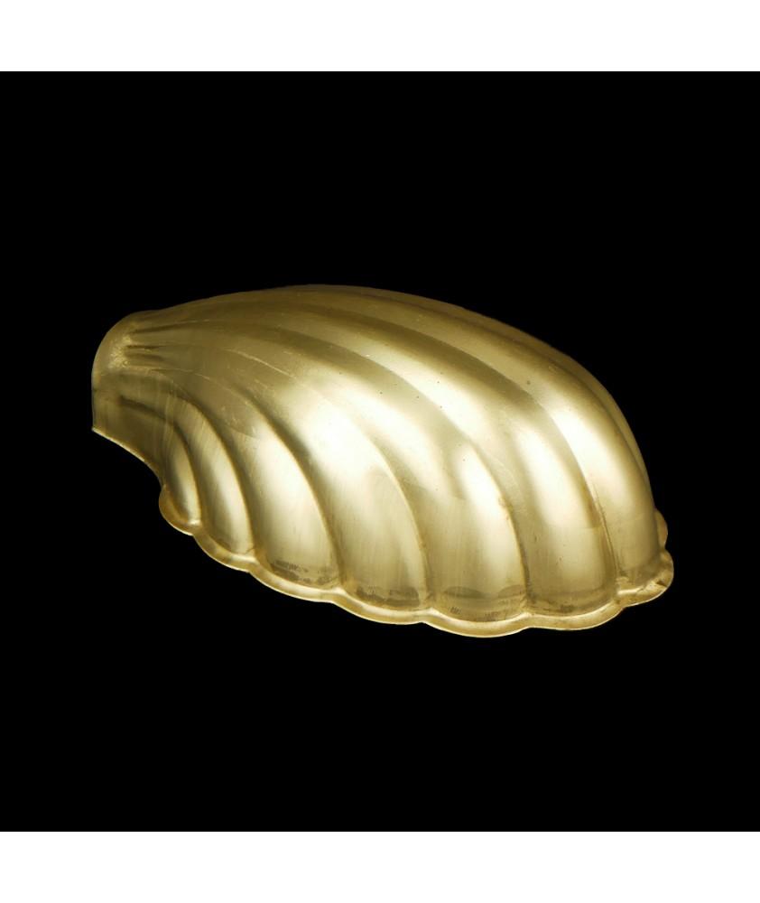 Large Art Deco Brass Shell Light Shade