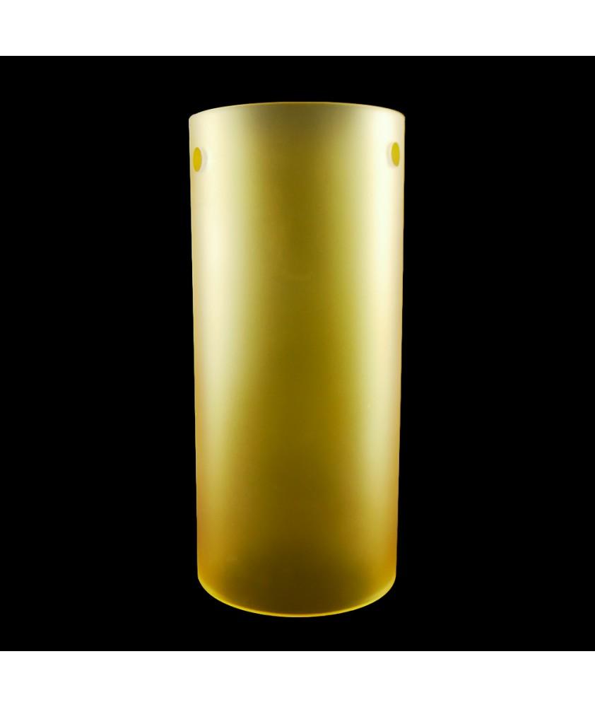 300mm Matt Orange Cylinder Glass Shade with 3 Arm Fitting