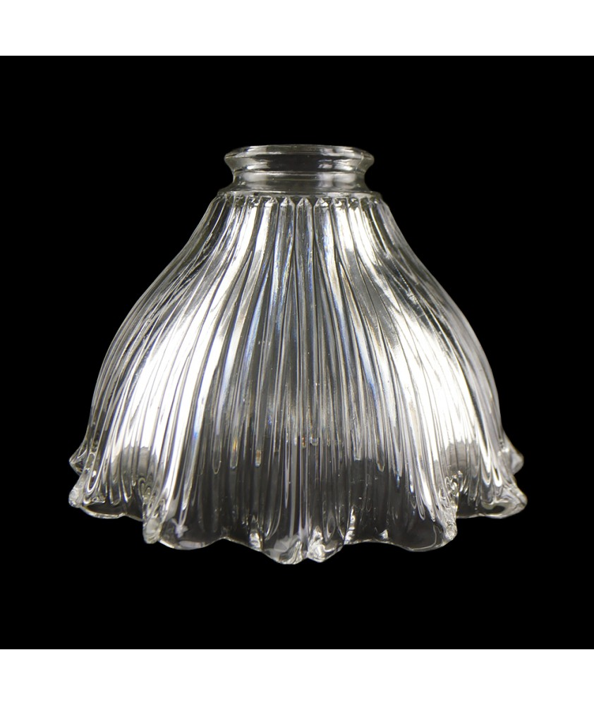 Frilled Prismatic Tulip Shade with 55mm Fitter Neck