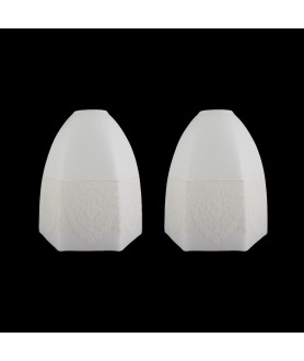 Pair of Frosted Hexagonal Tulip Shade with Embossed Pattern (30mm Fitter Hole)