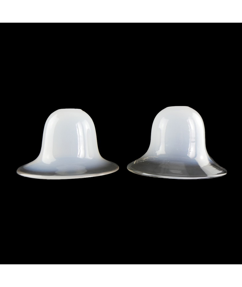 Pair of Opalescent Bell Shades with 30mm Fitter Hole