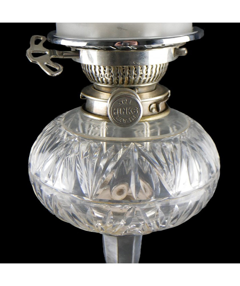 Victorian Oil Lamp Complete with Chimney