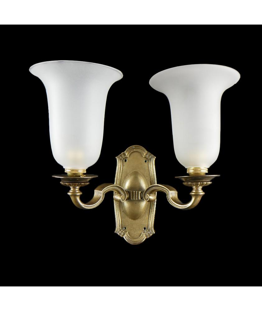 GEC Solid Brass Wall Brackets (set of 2)