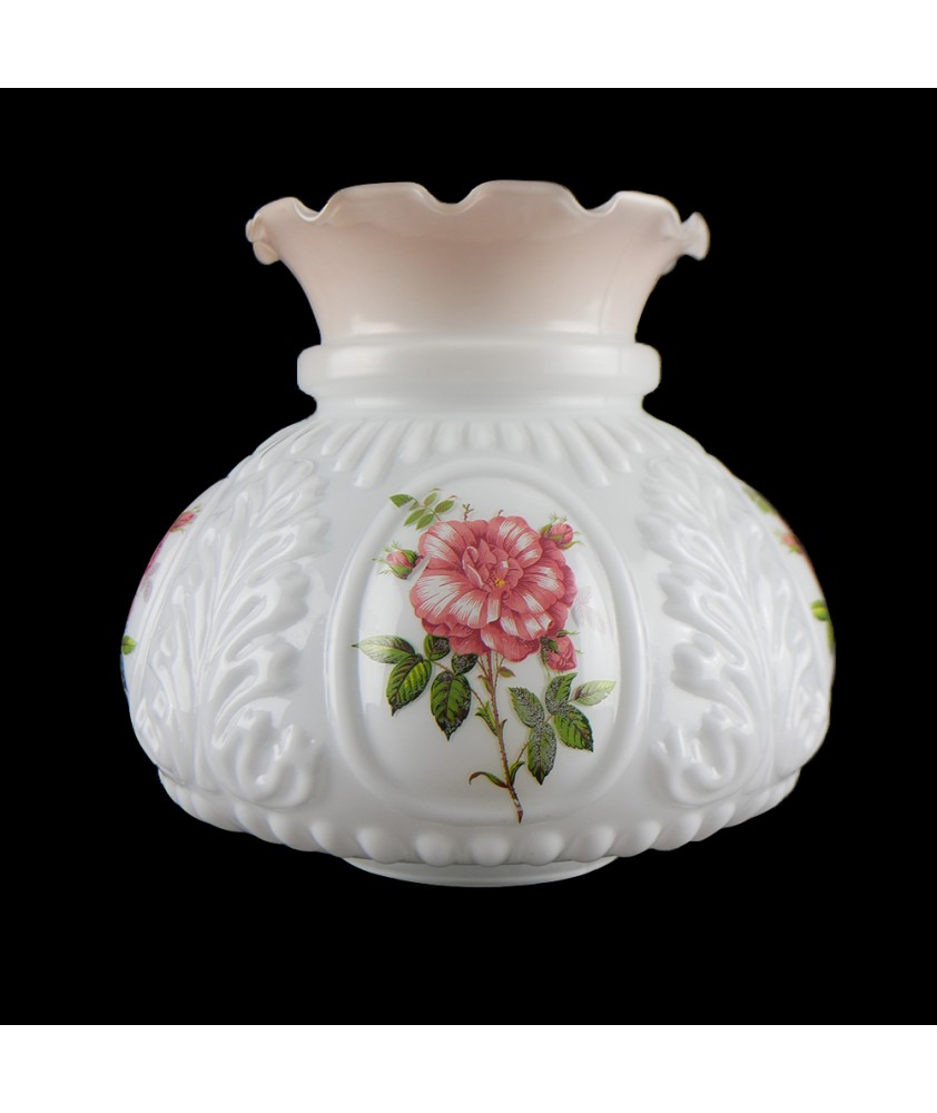 Original Patterned Oil Lamp Shade with 100mm Base