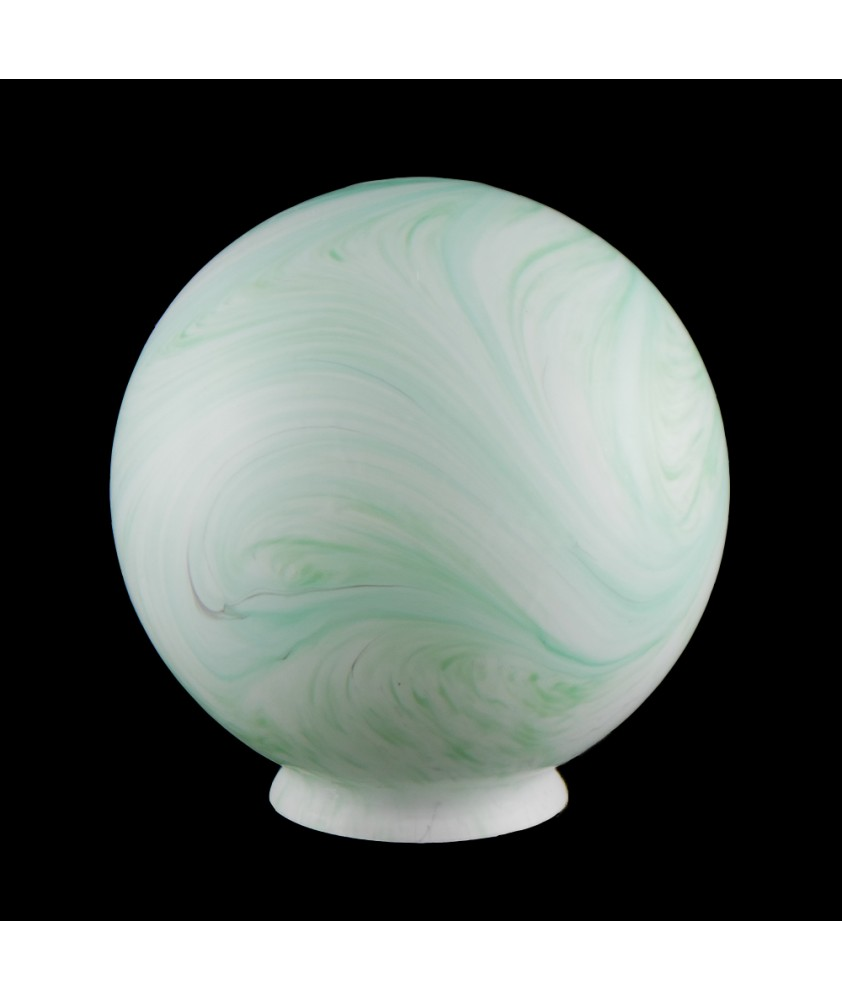200mm Green Marble Globe with 100mm Fitter Neck