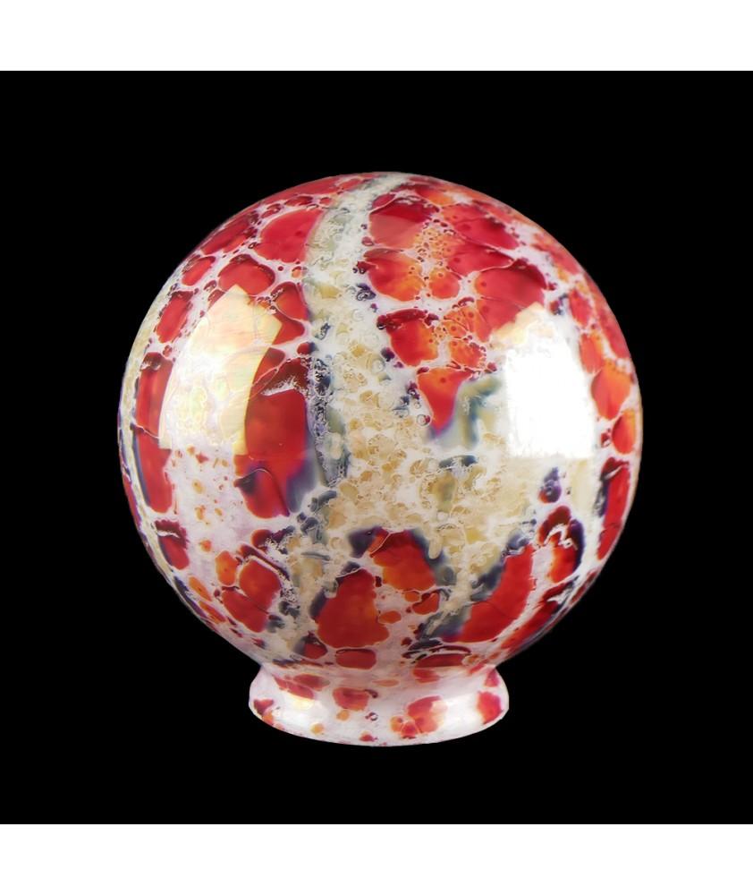 140mm Burnt Orange Marble Effect Globe with 80mm Fitter Neck