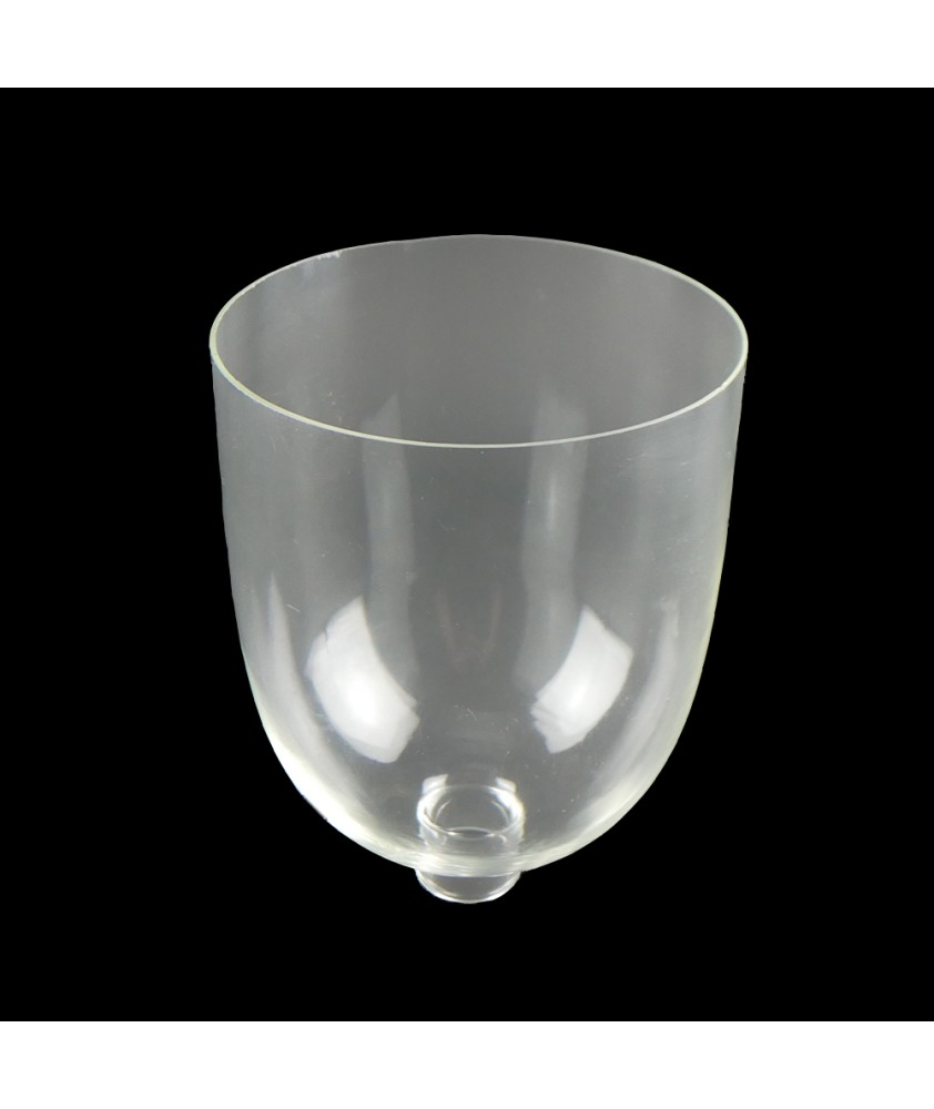 200mm Clear Hurricane Glass Shade with 35mm Base