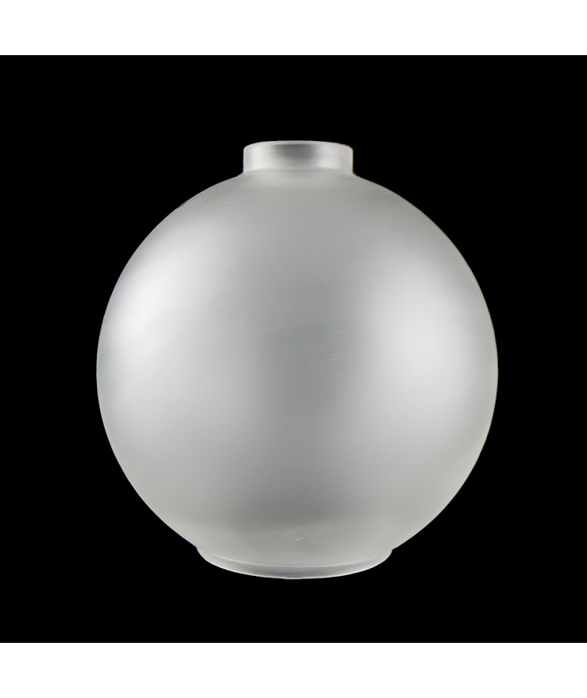 250mm Frosted Globe shade with 57mm Fitter Neck and 110mm Second Hole
