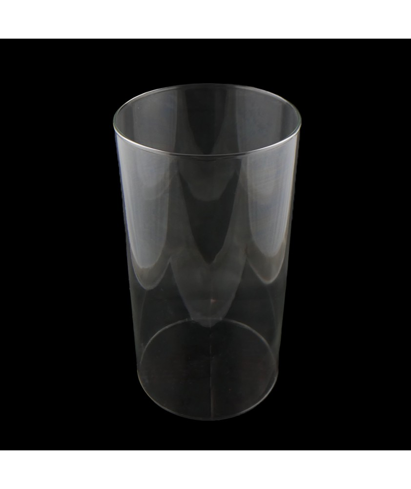 250mm Clear Glass Cylinder with 129mm Fitter