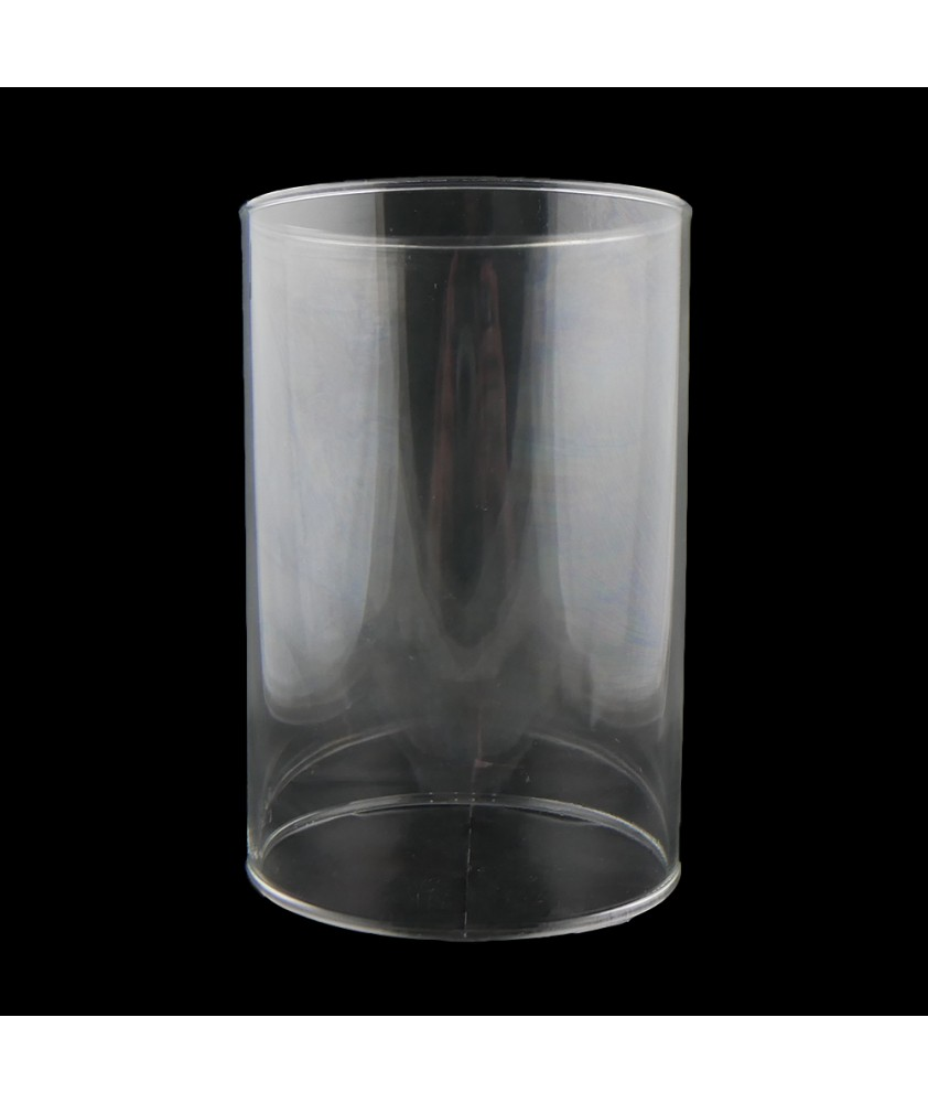 150mm Clear Glass Cylinder Shade with 100mm Fitter