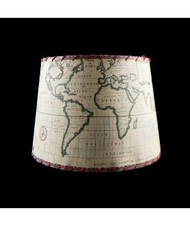 World Map Fabric Shade