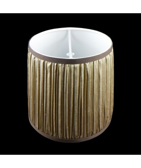 Champagne/Brown Fabric Shade Suitable for Candle Bulbs