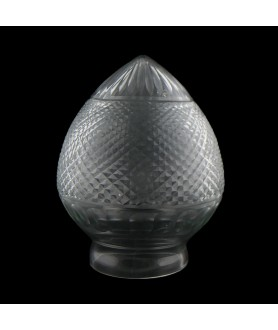 Crystal Cut Acorn Light Shade with 85mm Fitter Neck