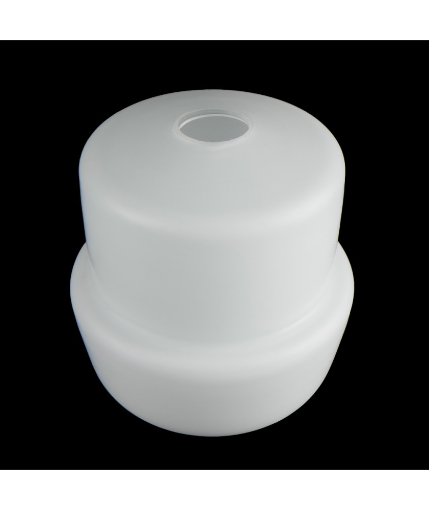 Frosted Opal Stepped Bell Shade with 30mm Fitter Hole