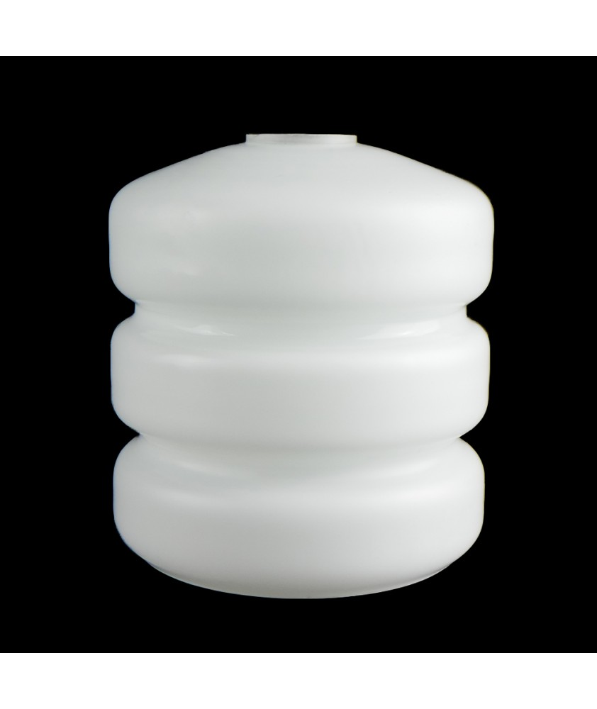 Ribbed Frosted Opal Bell Shade with 30mm Fitter Hole
