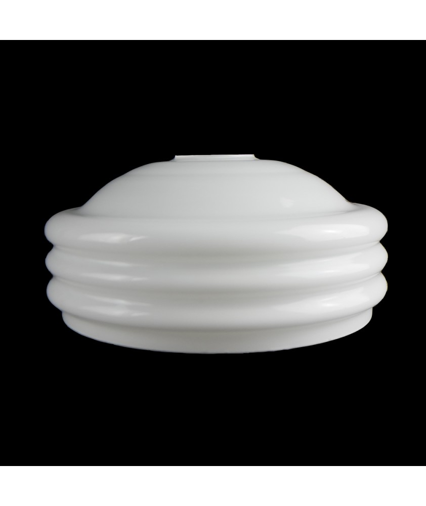 Shallow Ribbed Opal Ceiling Shade with 45mm Fitter Hole