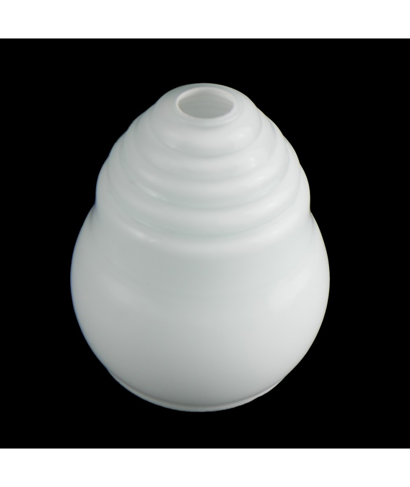 Beehive Style Frosted Opal Ceiling Shade with 28mm Fitter Hole