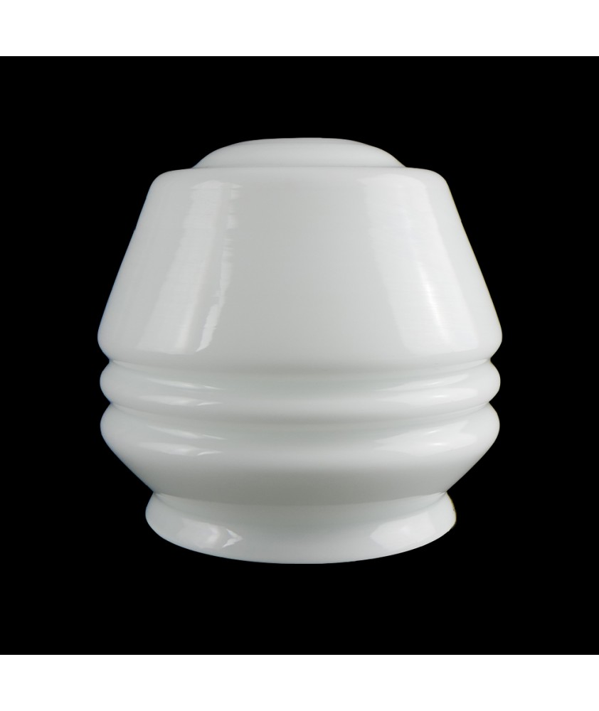 Opal Ceiling Light shade with 30mm Fitter HoleRibbed Opal Ceiling Light Shade with 30mm Fitter Hole