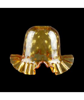 Amber Frilled Tulip Light Shade with 30mm Fitter Hole