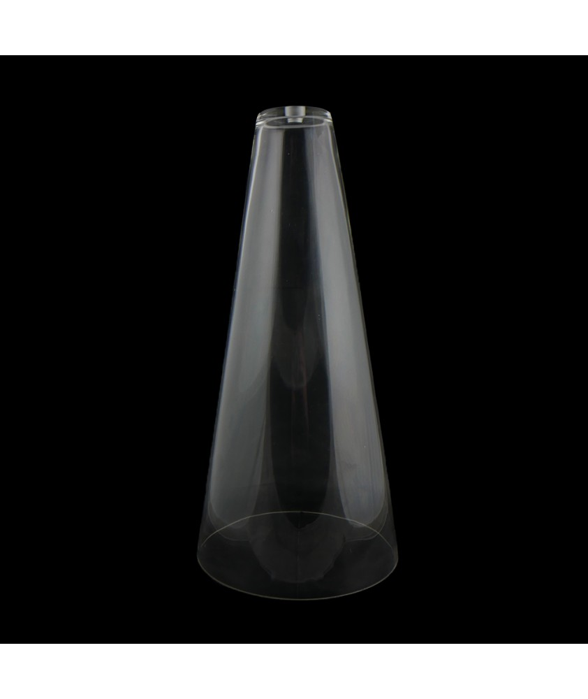 Conical Glass Light Shade with 10mm Fitter Hole