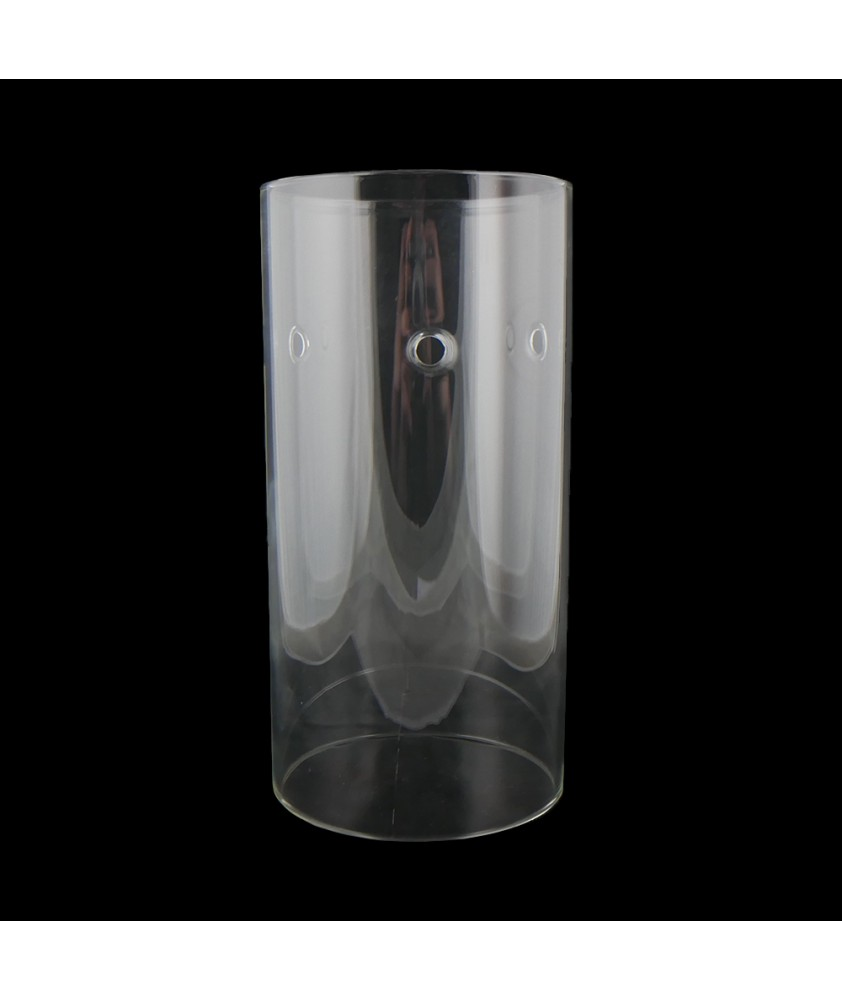 200mm Clear Cylinder Light Shade suitable for Spider Fitting