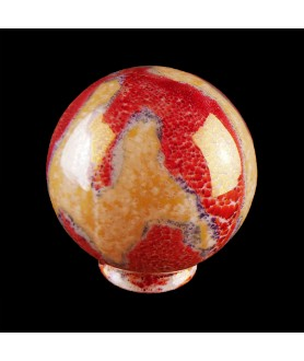 150mm Burnt Orange Marble Globe with 80mm Fitter Neck