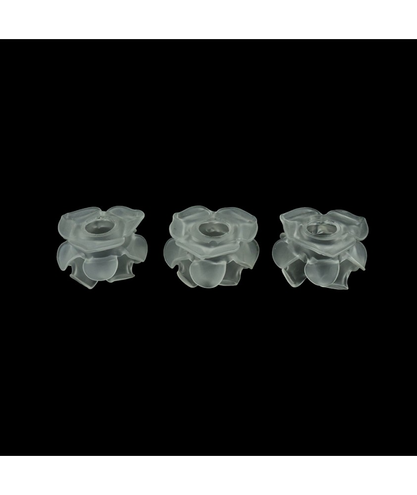 Set of 3 Original Satin Frilled Tulip Shades with 30mm Fitter Hole