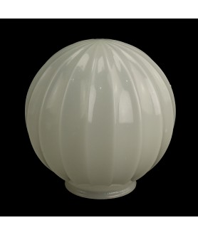 180mm Ribbed Opal Globe with 100mm Fitter Neck