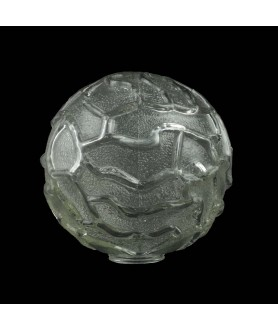 150mm Clear Textured Globe Light Shade with 40mm Fitter Hole