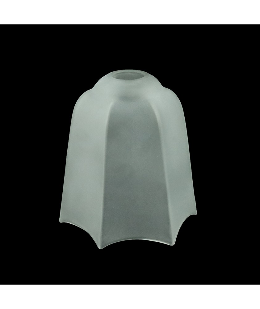 Frosted Art Deco Tulip Light Shade with 30mm Fitter Hole