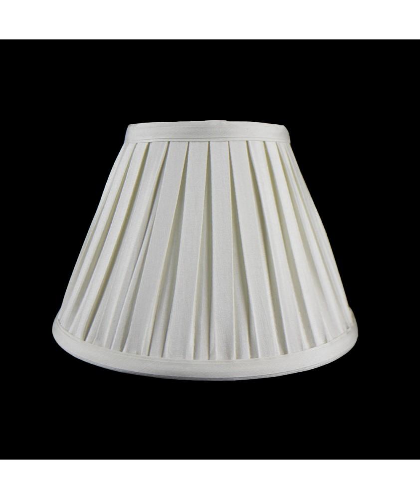 "Cream 12"" Box Pleat Fabric Shade"