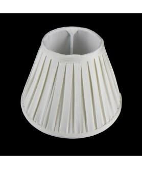 "Cream 10"" Box Pleat Fabric Shade"