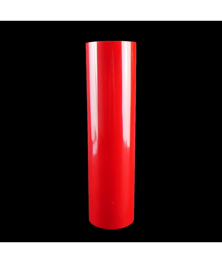 300mm Red Coloured Cylinder with 80mm Base Diameter