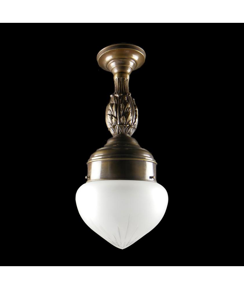 Decorative Brass Pendant with Acorn Shade