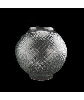 Hobnail Cut  Oil Lamp Shade with 100mm Base