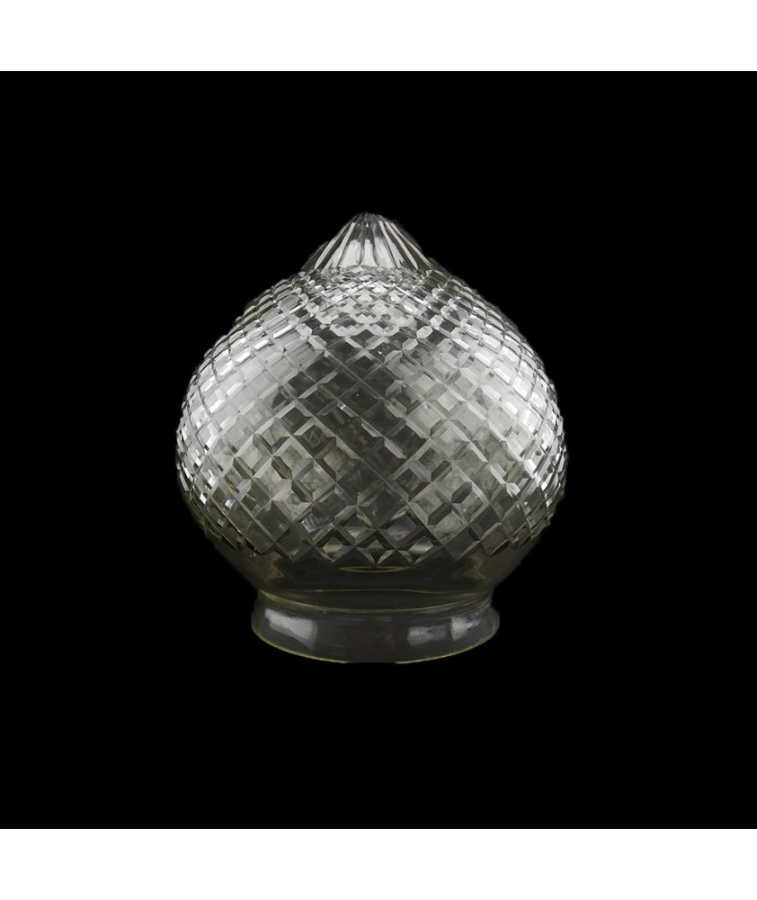 Large Crystal Cut Acorn Light Shade with 154mm Fitter Neck