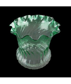 Superior Green Tulip Oil Lamp Shade with 100mm Base